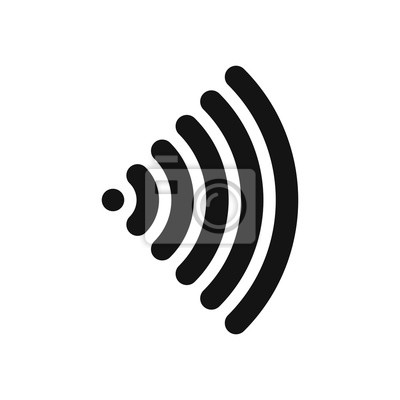 Wifi symbol. wireless internet connection or hotspot sign. black ...