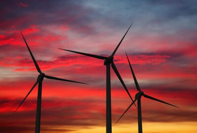 Bild Wind generator turbines in sky
