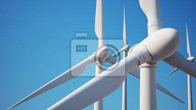 Windenergie Generator mit Beschneidungspfad