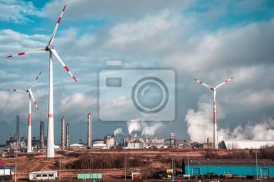 Bild Windmühlen auf einer Pflanze