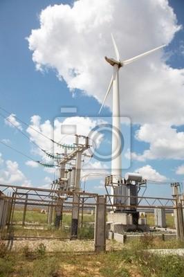 Bild Windmühlen in Windpark-
