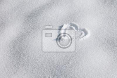 Winter-Herz Zeichen