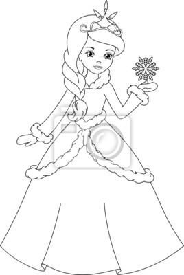 Winter Prinzessin Malvorlagen Leinwandbilder Bilder Schöne