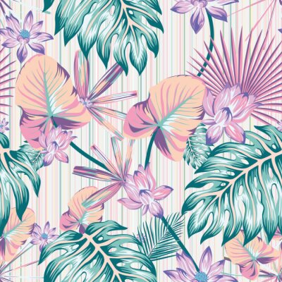 Bild Winter tropical pattern seamless stripe background