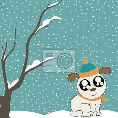 Winter und Hund