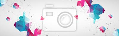 Bild Wireframe background with plexus effect. Futuristic vector illustration.