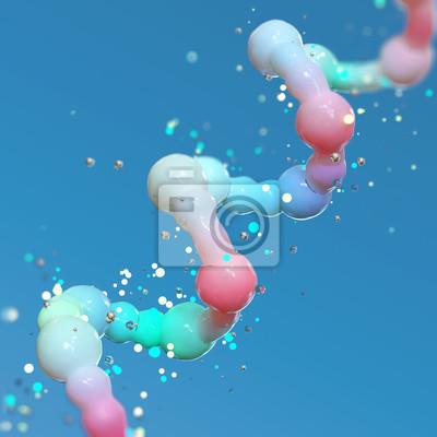 Bild Wissenschaftshintergrund mit Molekül oder Atom, abstrakte Struktur für Wissenschaft oder medizinischer Hintergrund, Illustration 3d.