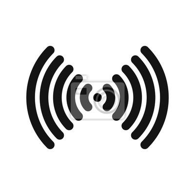 Wlan-symbol. wlan-verbindung oder hotspot-zeichen. skizzieren ...