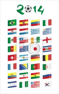 WM Flaggen Vektor