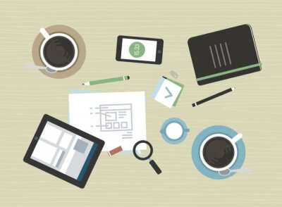 Bild Wohnung Illustration der modernen Business-Meeting