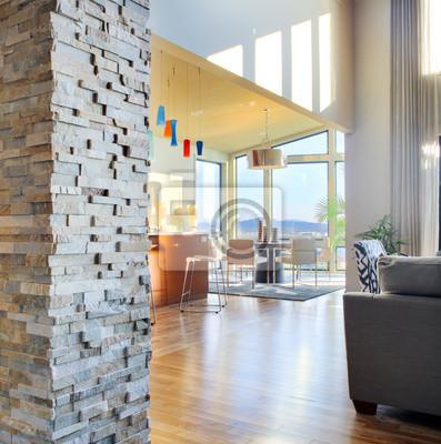 Bild Wohnzimmer und Küche in Luxus zu Hause