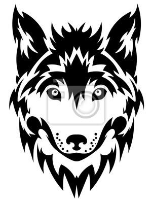 Bild Wolf Kopf Logo Maskottchen Emblem