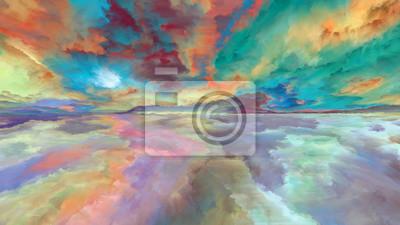 Wolke abstrakte Landschaft