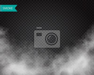 Bild Wolken oder Rauch Vektor auf transparenten Hintergrund