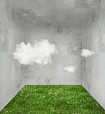 Bild Wolken und Gras in einem Raum