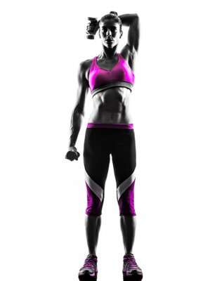 Bild woman fitness Weights exercises silhouette