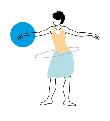 woman in different sports activities