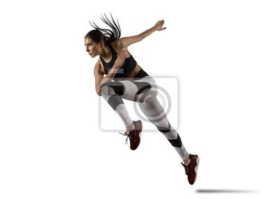 Bild Woman sprinter leaving starting
