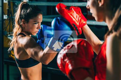 Bild Women on boxing training