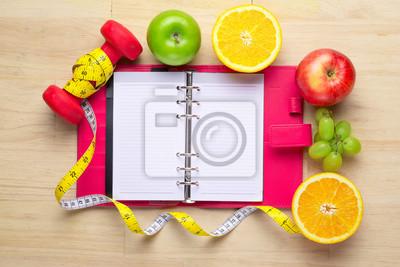Workout Und Fitness Diat Kopie Raum Tagebuch Gesundes Lifestyle