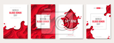 Bild World donor day set of posters