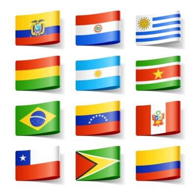 Bild World flags. Südamerika.