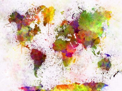 Bild World map in watercolor