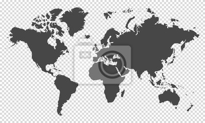 Bild world map on transparent background