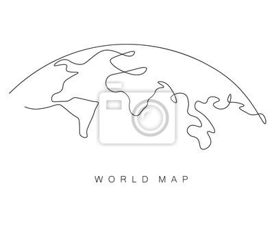 Bild World map outline, eart day concept, vector illustration