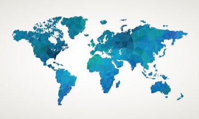 Bild World map vector abstract illustration pattern