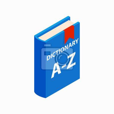 Bild Wörterbuch Buch-Symbol, isometrische 3D-Stil
