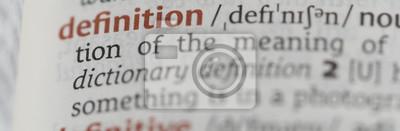 Bild Wörterbuch mit der Wortdefinition