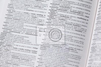 Bild Wörterbuch öffnen