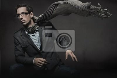 Wunderschöne Mode -Stil Foto eines eleganten Mann