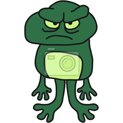Wütend Bad Böse Comic Frosch Leinwandbilder Bilder Merry Unke