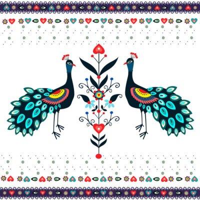 Bild Wzór haftu z pawiami