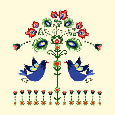 Bild Wzór haftu z ptakami