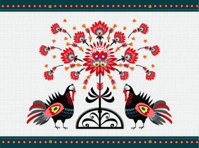 Bild wzór Ludowy z indykami