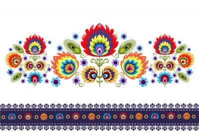 Bild wzór Ludowy z kwiatami