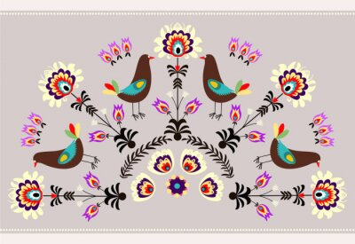 Bild Wzór z ptakami