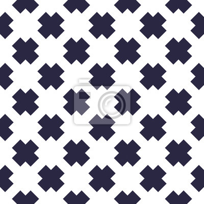 X crosses seamless minimalistic vector background, minimal simple geometric pattern. Single color, black and white.