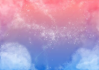 Bild ふ わ ふ わ ピ ン ク の 空 Fluffy rosa Himmel