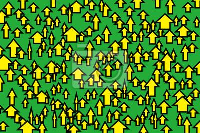 Bild 黄 矢 印 · · グリーン 背景 地色