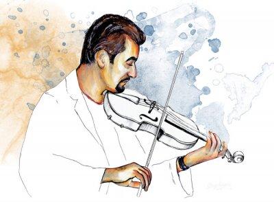 Bild Рисунок-иллюстрация,,Музыкант играет на скрипке,, .
