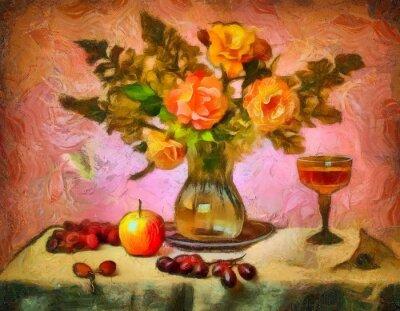 Bild Натюрморт с розами