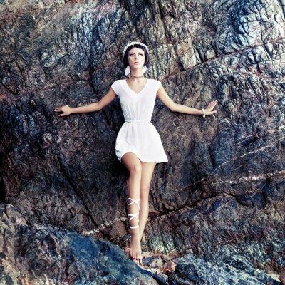 Bild  sensual girl on the rocks