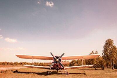 Bild Altes Flugzeug. Вiplane