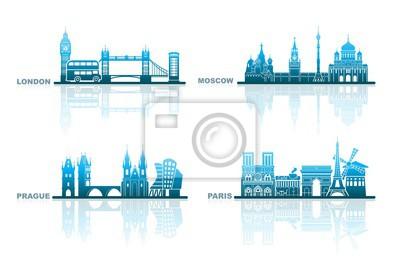 Architektonische Grenzsteine der europäischen Hauptstädte