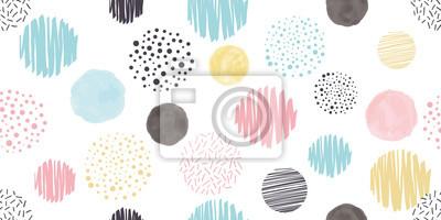 Bild Cute geometric background. Seamless pattern.Vector. かわいい幾何学パターン