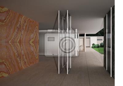 Deutscher Pavillon Barcelona Mies Van Der Rohe Leinwandbilder